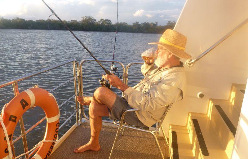 Fishing at Coomera Houseboats