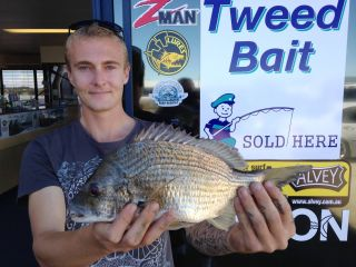 Bryce with 34cm Bream caught in the Coomera River